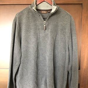 Men's Grey 3/4 zip up pullover sweater